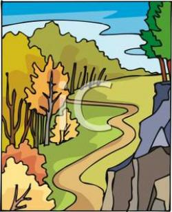 Pathway clipart winding trail