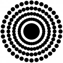 Dots clipart burst