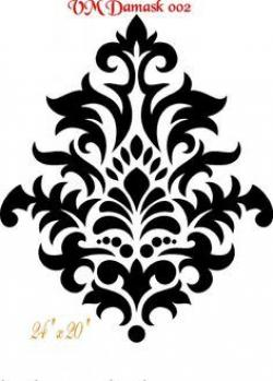 Damask clipart stencil