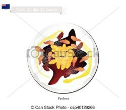 Pavlova clipart new zealand