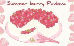 Pavlova clipart raspberry