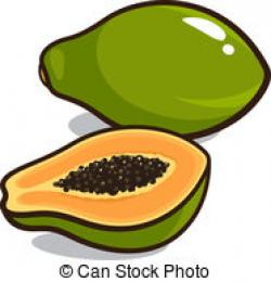 Papaya clipart raw