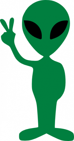 Peace clipart alien