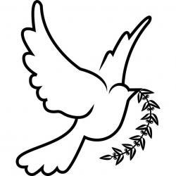 Sketch clipart dove