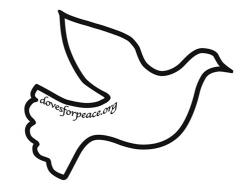 Peace clipart dove outline