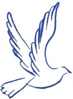 Peace Dove clipart dove outline