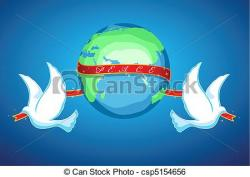 Peace clipart the world drawing