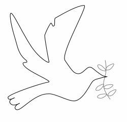 Peace clipart dove cross