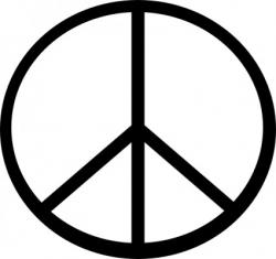 Peace Sign clipart artistic
