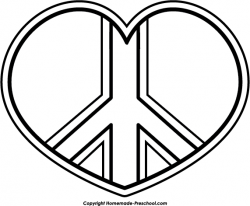 Peace clipart colouring page