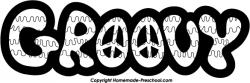 Peace Sign clipart groovy
