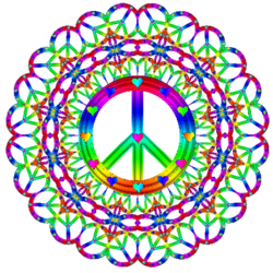 Peace Sign clipart rainbow