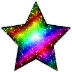 Peace Sign clipart rainbow stars