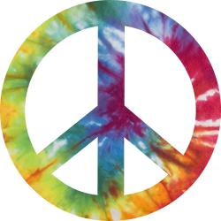 Peace Sign clipart tie dye