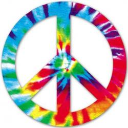 Peace Sign clipart tye dye