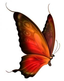 Papillon clipart red butterfly