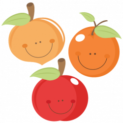 Peach clipart cute