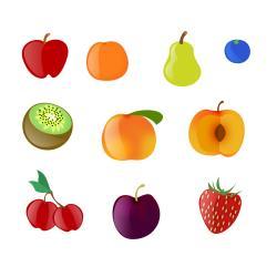 Orange (Fruit) clipart plum