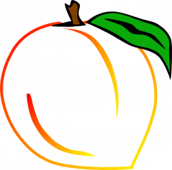 Peach clipart fruit outline