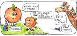 Peach clipart funny