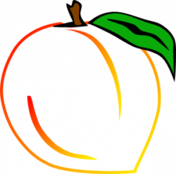 Peach clipart georgia peach