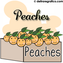 Peach clipart happy