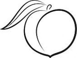 Peach clipart outline
