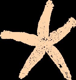 Peach clipart starfish