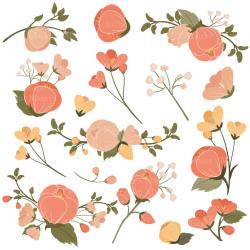 Peach Flower clipart