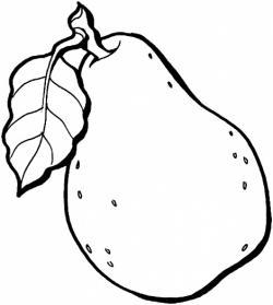 Guava clipart black and white