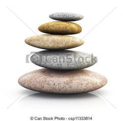 Zen clipart pile stone
