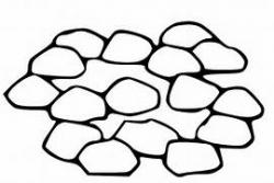 Pebble clipart black and white