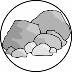 Pebble clipart boulder