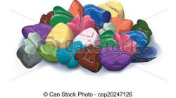 Pebbles clipart mineral rock