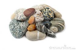 Pebbles clipart colorful