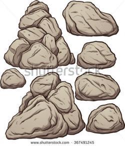 Pebbles clipart boulder