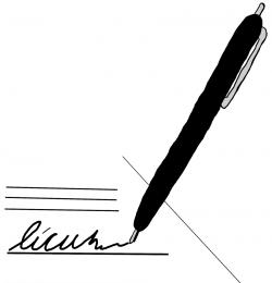 Pice clipart signature