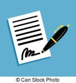 Pen clipart business document