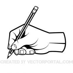 Pen clipart hand clip art