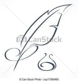 Quill clipart calligraphy pen