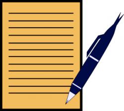 Pen clipart paper writing