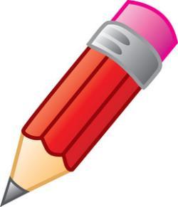 Red clipart eraser