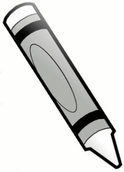 Silver clipart crayon