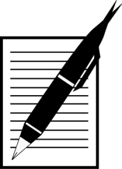 Pen clipart reflection paper