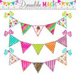 Triangle clipart celebration banner