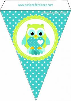 Owlet clipart bunting
