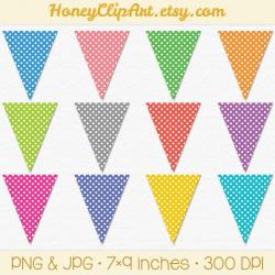 Triangle clipart polka dot