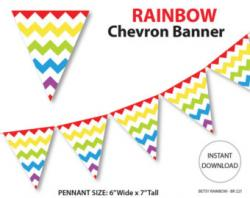Pendent clipart rainbow banner