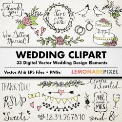 Typeface clipart bridal shower