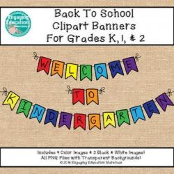 Pendent clipart school banner